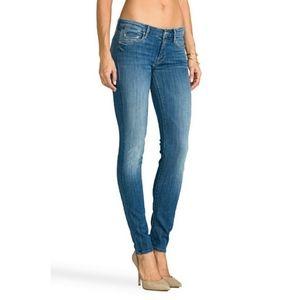 Mother skinny jean in medium kitty